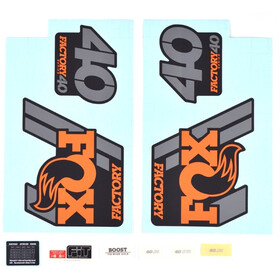 Fox Racing Shox Decal Kit Fork 2018 40 F-S Orange/Matt Black